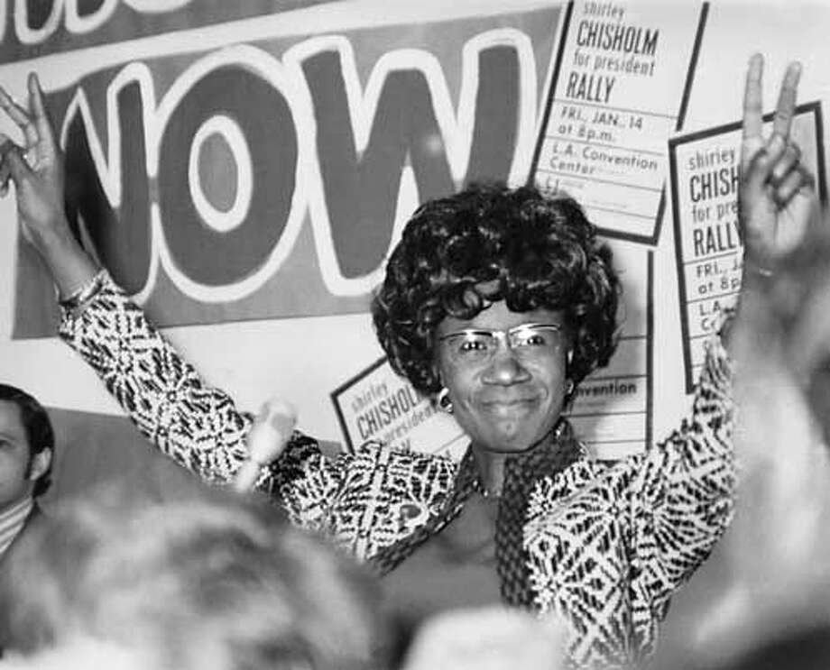 Shirley Chisholm, subject of Shola Lynch's documentary CHISHOLM '72: UNBOUGHT AND UNBOSSED. Playing at the 47th San Francisco International Film Festival, April 15-29, 2004. Shirley Chisholm is the subject of the film &quo;Chisholm '72: Unbought and Unbossed&quo; by Shola Lynch, which is playing at the San Francisco International Film Festival.