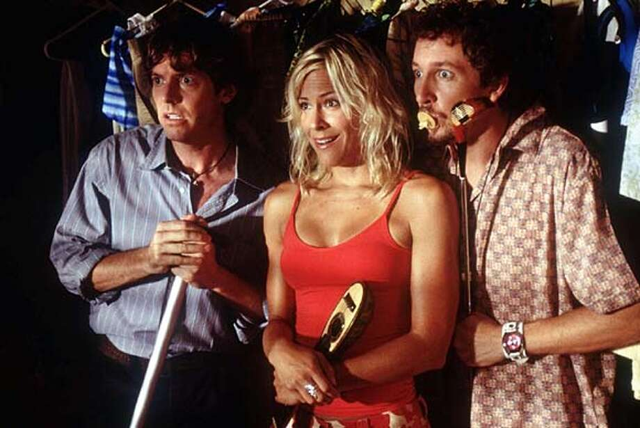 for preview04; Left to Right: Erik Stolhanske, Brittany Daniel and Paul Soter in BROKEN LIZARD�S CLUB DREAD. Photo Credit: Lacey Terrell
