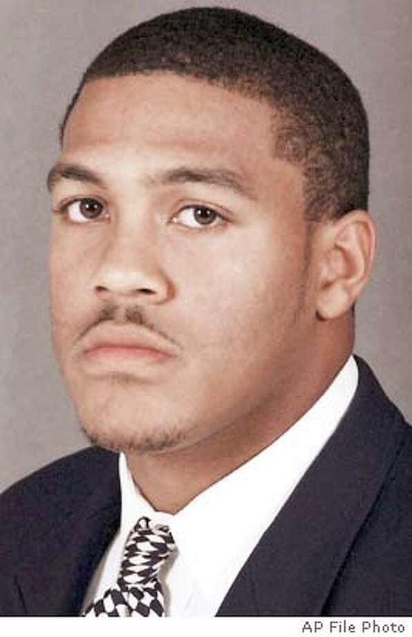 ** FOR USE AS DESIRED WITH NFL DRAFT STORIES ** FILE ** Top NFL draft prospects are shown in these undated handout photos. Michael Clayton, LSU; Cedric Cobbs, Arkansas; Karlos Dansby, Auburn; Devard Darling, Washinton State; Darnell Dockett, Florida State; Nate Dorsey, Georgia Tech; Lee Evans, Wisconsin; Earl Fields, Appling County High School; Larry Fitzgerald, Pittsburgh; Robert Gallery, Iowa; Chris Gamble, Ohio State. (AP Photo) Michael Clayton, the LSU receiver, impressed the 49ers in a recent visit.