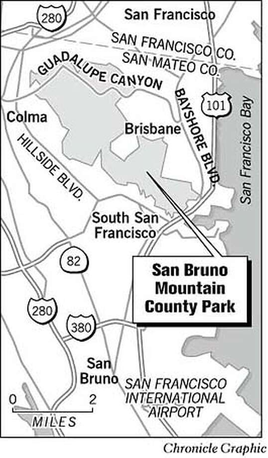 San Bruno Mountain County Park. Chronicle Graphic Photo: Joe Shoulak