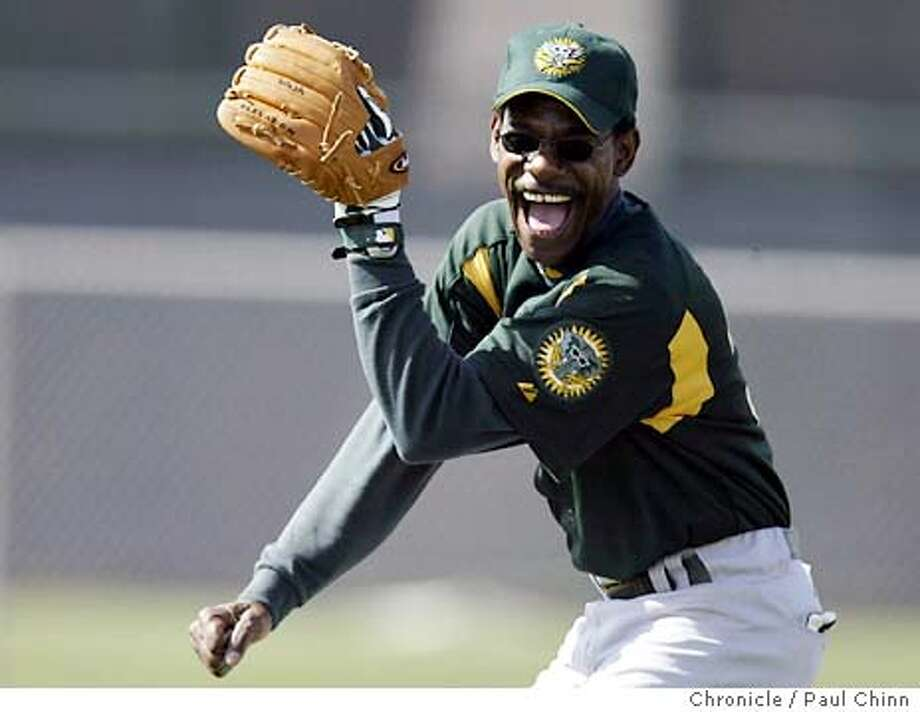 athletics25_083_pc.JPG Coach Ron Washington was having a great time during Tuesday's workout. The Oakland Athletics continue 2004 Spring Training workouts on 2/24/04 in Phoenix, AZ. PAUL CHINN / The Chronicle Photo: PAUL CHINN