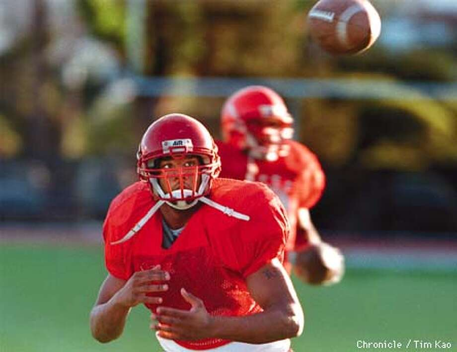 =CCSF running back Kevin Brown during Monday afternoon practice. PHOTO BY TIM KAO/THE CHRONICLE Photo: TIM KAO
