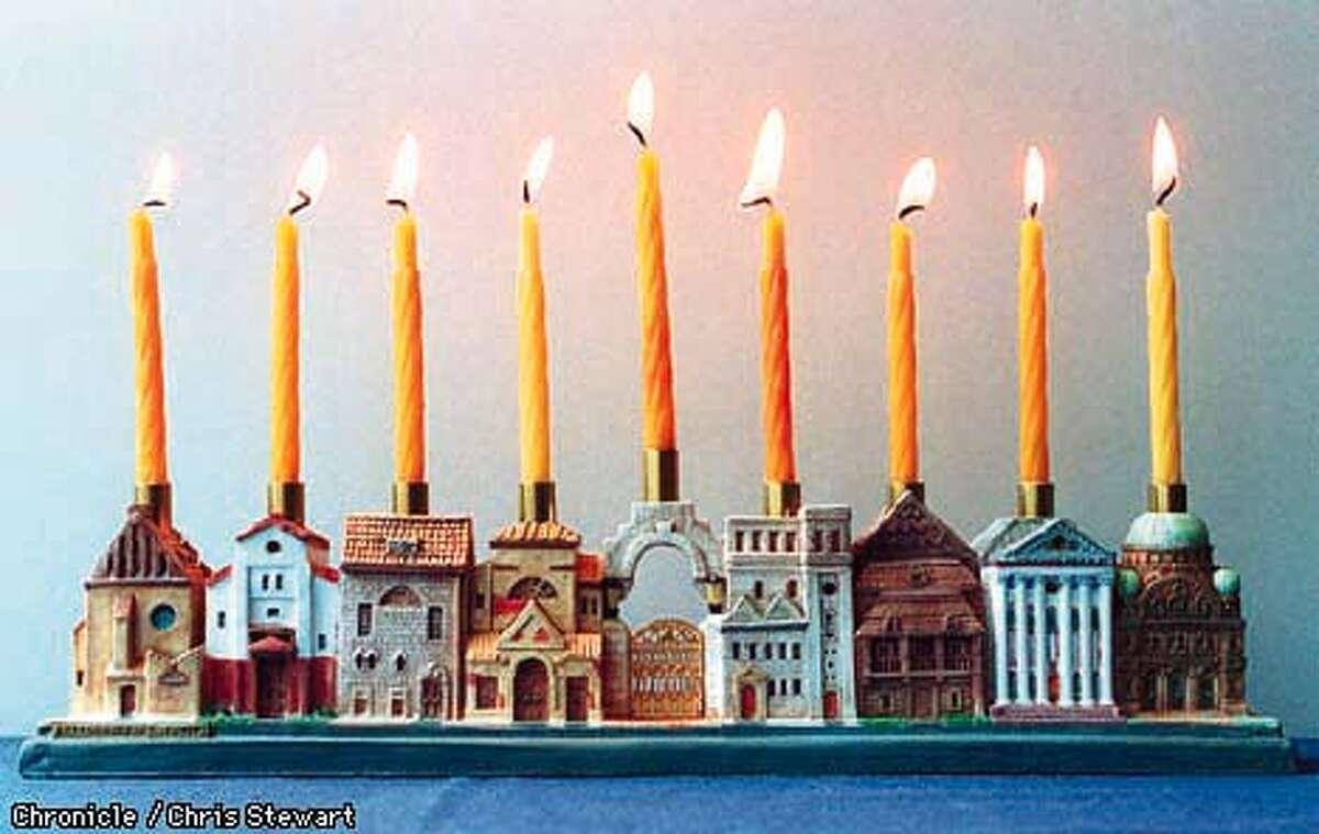 Synagogues historical menorah. SAN FRANCISCO CHRONICLE PHOTO