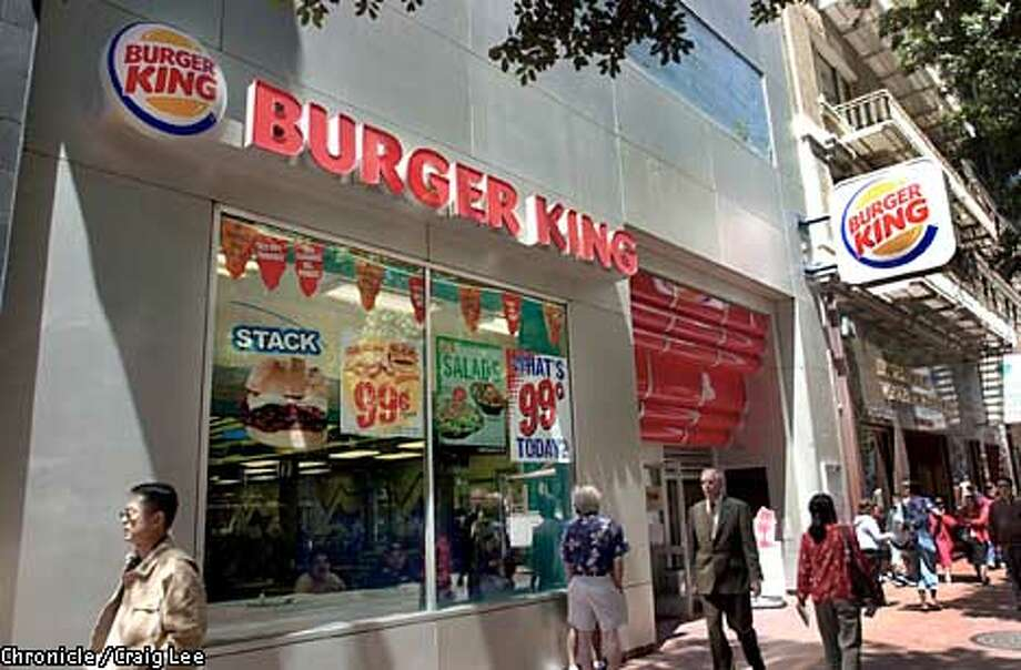 Burger King near Powell and Market streets by the Cable Car turn around. For a business story about Buger King being sold by London based company, Diageo.  Photo by Craig Lee/San Francisco Chronicle Photo: CRAIG LEE