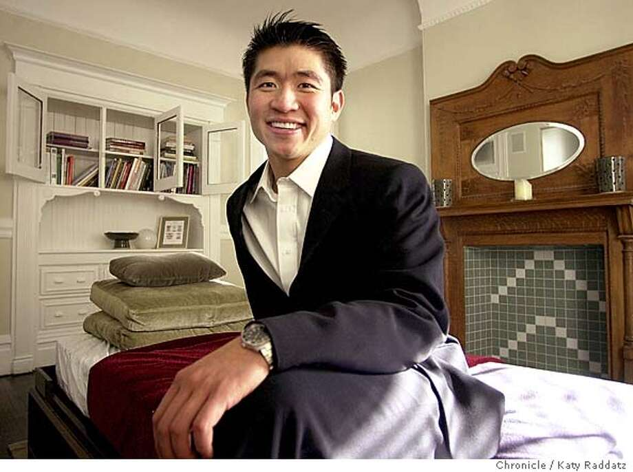 FURNITURE13b-C-06FEB02-HM-RAD  Photo by Katy Raddatz--The Chronicle  Furniture designer Jiun Ho in his workroom, in the Haight Ashbury District of San Francisco. Photo: KATY RADDATZ