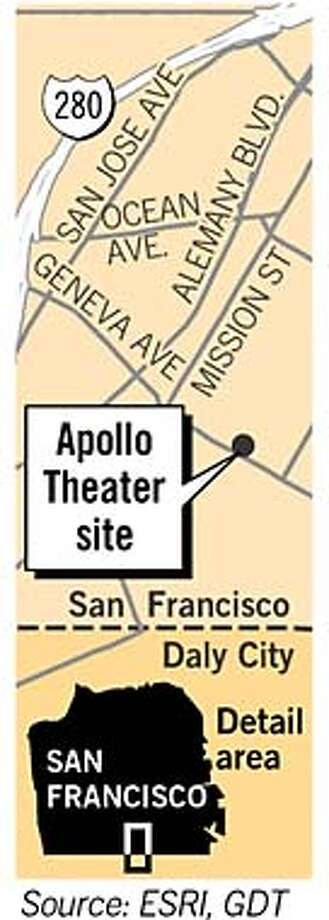 Apollo Theater Site. Chronicle Graphic
