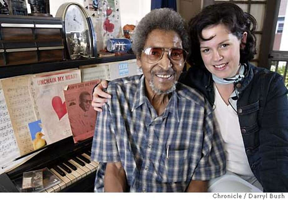 "Bobby Sharp songwriter who wrote ""Unchain My Heart"" for Ray Charles and jazz/pop singer Natasha Miller in Sharp's home.  Event on 4/14/04 in Alameda.  Darryl Bush / The Chronicle Photo: Darryl Bush"