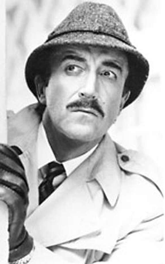 "Peter Sellers as Inspector Clouseau in ""The Pink Panther."""