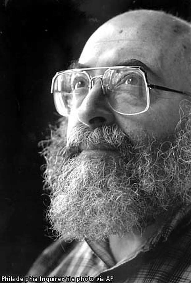 ** FILE ** Author Chaim Potok, shown in this April, 1990 file photo, location uknown, whose Orthodox Jewish upbringing inspired ``The Chosen'' and other novels that became best-sellers among readers of many faiths, died Tuesday, July 23, 2002. He was 73. Potok, who was diagnosed with cancer in 2000, died at his home in Merion, Pa., said Sharon Stunacher, executive director of Potok's synagogue, Temple Beth Hillel-Beth El. (AP Photo/The Philadelphia Inquirer, File)