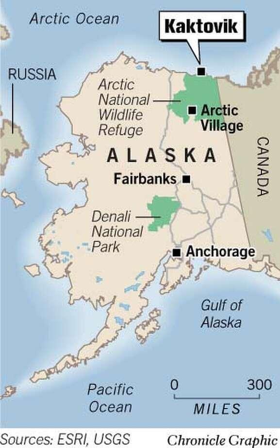Kaktovik, Alaska. Chronicle Graphic Photo: Todd Trumbull