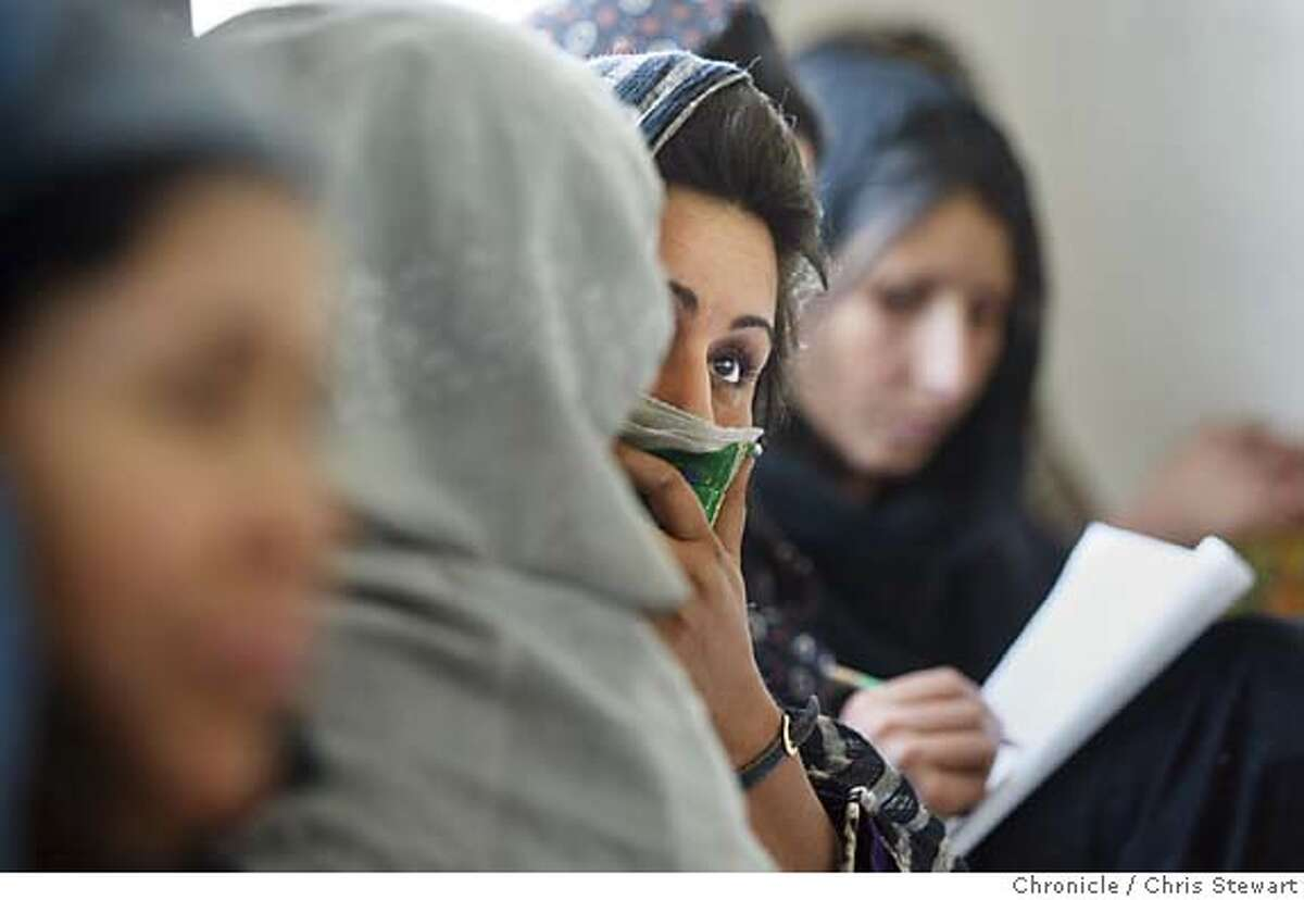 Event on 4/13/04 in Kabul. A literacy program for women at the Afghan Center in Kabul, Afghanistan. Chris Stewart / The Chronicle