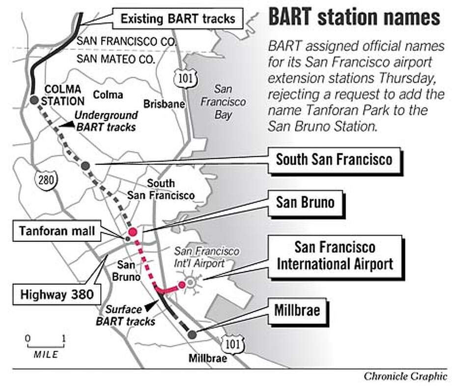 BART Station Names. Chronicle Graphic