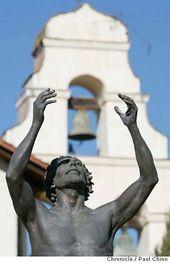 sanjuan15_060_pc.JPG Sculptor Tom Marsh's statue of St. John the Baptist was erected in front of the church's belltower three years ago. A Weekend Escape to Mission San Juan Bautista on 1/31/04. PAUL CHINN / The Chronicle Photo: PAUL CHINN