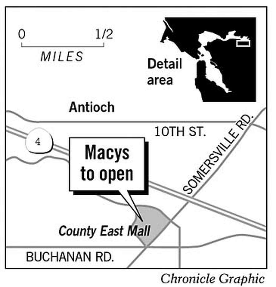 Macy's to Open. Chronicle Graphic