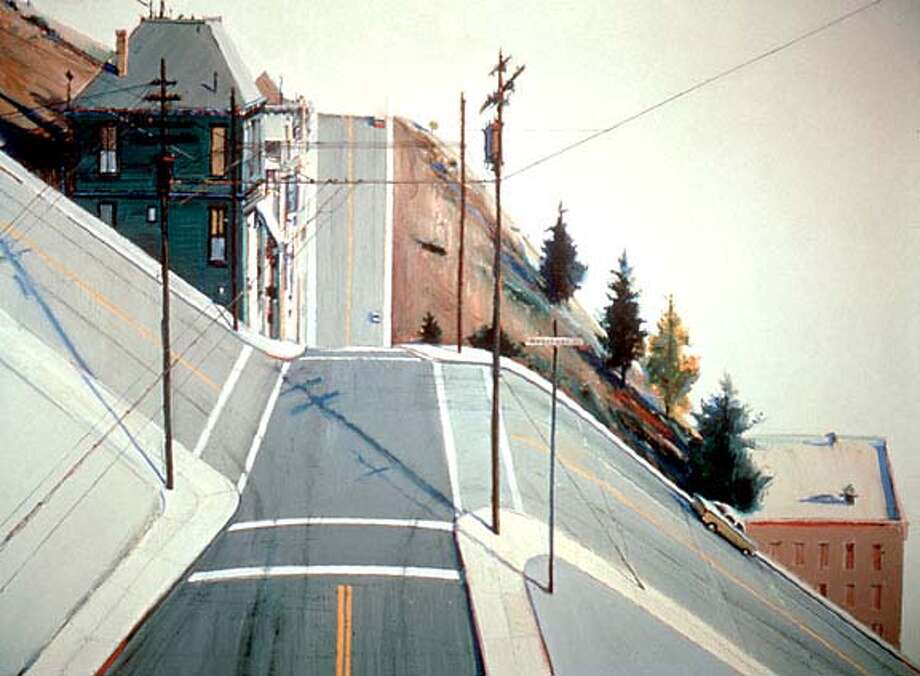 ART15-THIEBAUD_HO 24TH STREET INTERSECTION  by Wayne Thiebaud, 1977  oil on canvas