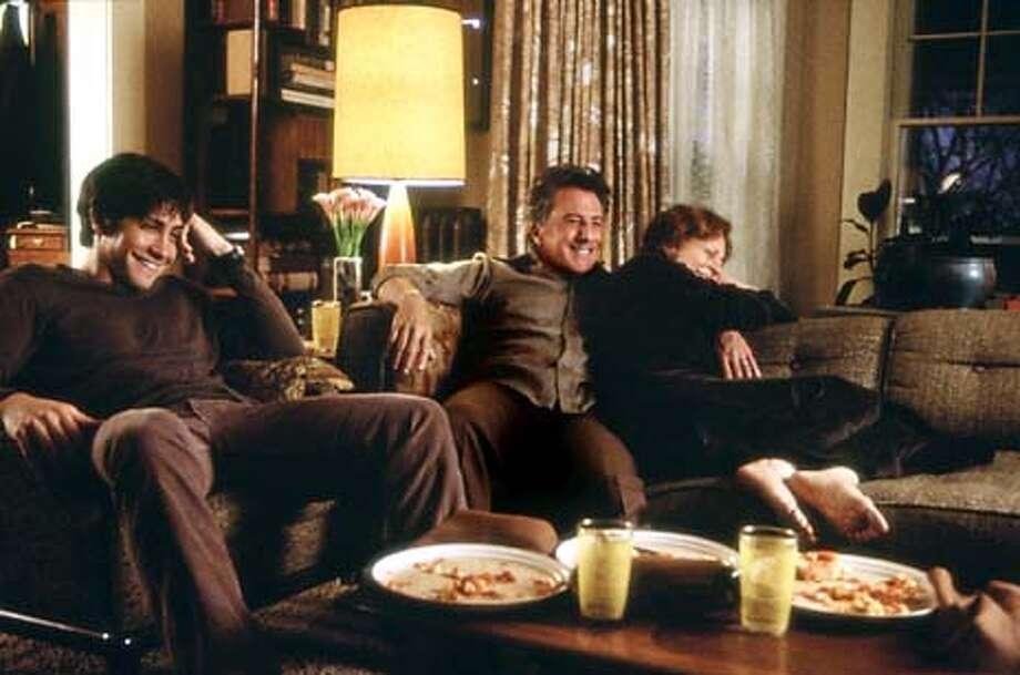 (Left to Right) Jake Gyllenhaal, Dustin Hoffman, Susan Sarandon in Moonlight Mile.  Undated handout photo./Buena Vista Entertainment Photo: Handout