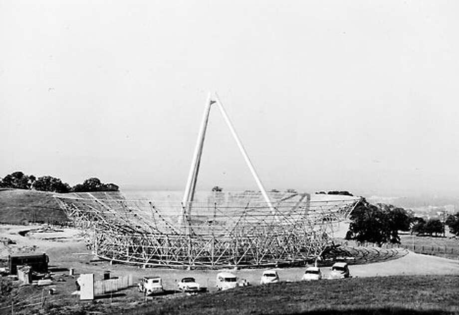 George Sutton Parks Jr. led the construction of the 150-foot radio telescope dish in the foothills behind Stanford University.