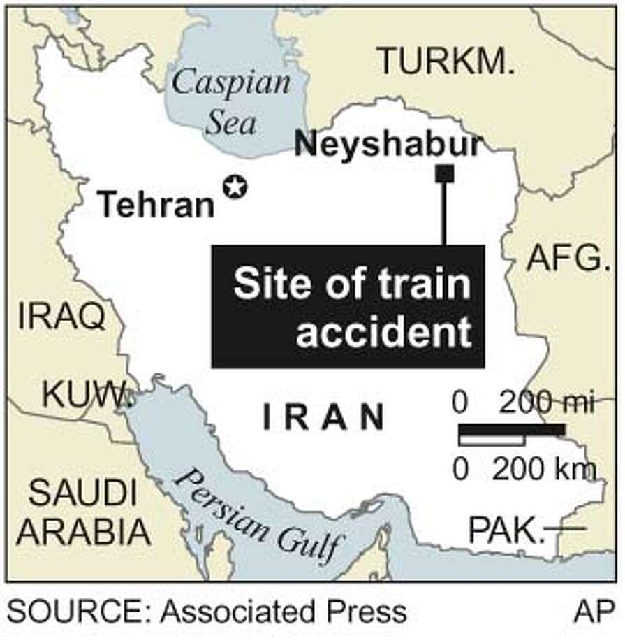 Site of Runaway Train Accident. Associated Press Graphic