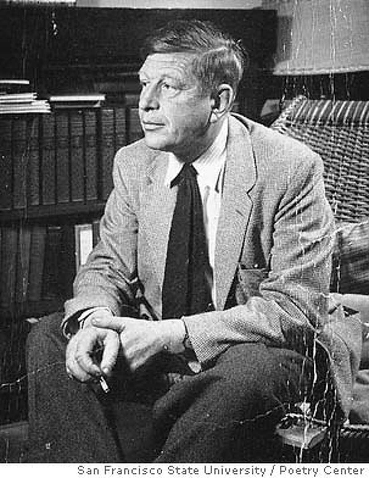 W.H. Auden, at home of Poetry Center founding director Ruth Witt-Diamant in San Francisco.