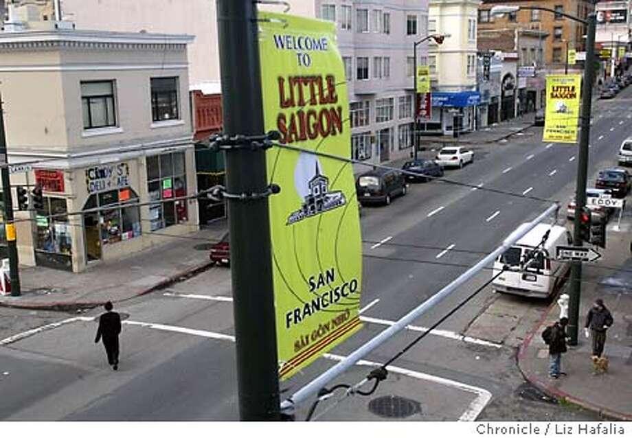 A two block area around Larkin St. has recently been designated as Little Saigon. Shot on 2/3/04 in San Francisco. LIZ HAFALIA / The Chronicle Photo: LIZ HAFALIA