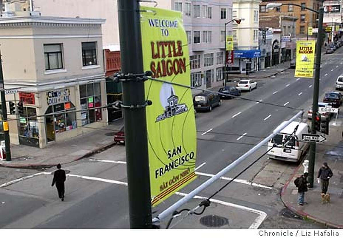 A two block area around Larkin St. has recently been designated as Little Saigon. Shot on 2/3/04 in San Francisco. LIZ HAFALIA / The Chronicle