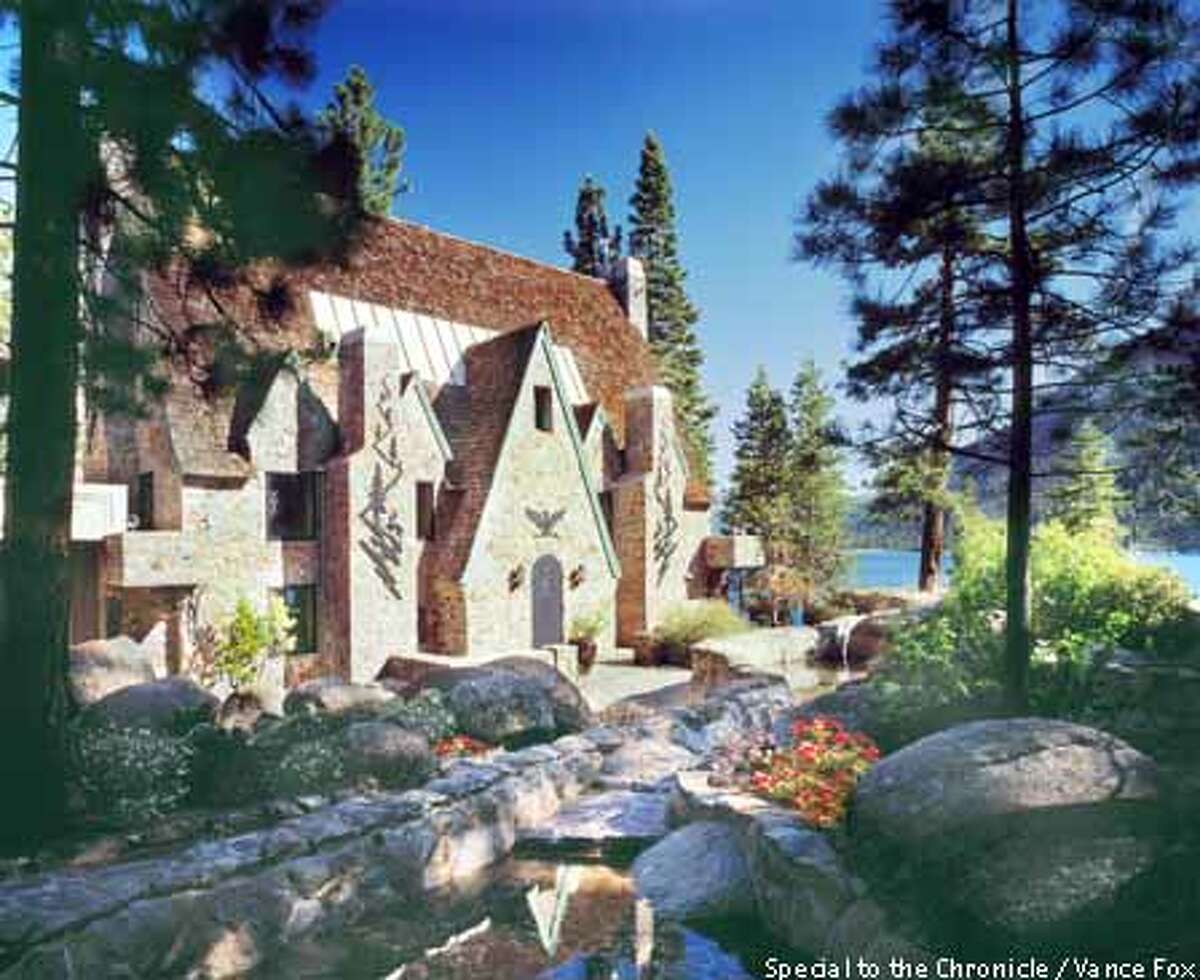 Lake view: Thunderbird Lodge is one of the grandest and strangest homes ever built at Tahoe. Photo by Vance Fox, special to the Chronicle