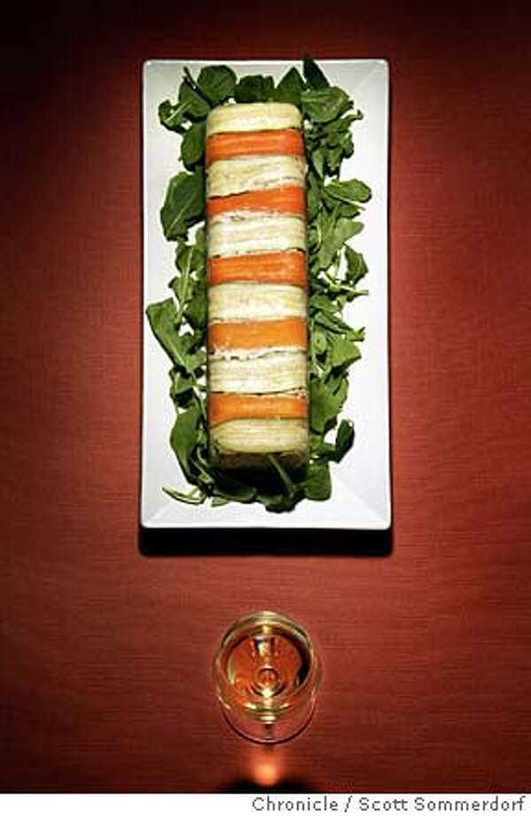AN EXCLAMATION POINT - built from a Fish mousseline with Pinot Grigio for the April 8th Pairing column. SCOTT SOMMERDORF/THE CHRONICLE Photo: SCOTT SOMMERDORF