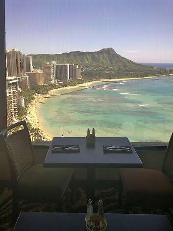 A dazzling view of Diamond Head and Waikiki await guests of Sheraton Waikiki's new Leahi Club Lounge. Photo: Jeanne Cooper, Special To SFGate