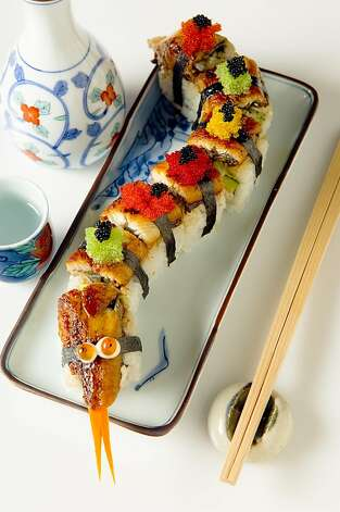 Fresh sushi, such as eel roll, is on the menu at Raku, the new Japanese restaurant in the Makena Beach & Golf Resort on Maui. Photo: Makena Beach & Golf Resort