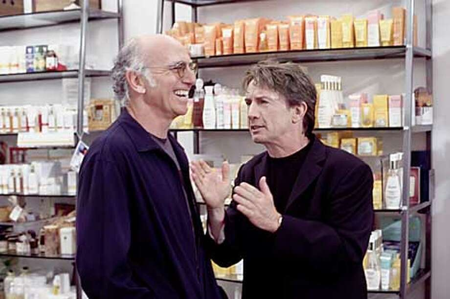CURBYOURD-C-11SEP02-DD-HO CURB YOUR ENTHUSIASM: Larry David, Martin Short. photo: Ron Batzdorff (HANDOUT PHOTO) PLEASE VERIFY RIGHTS AND USAGE
