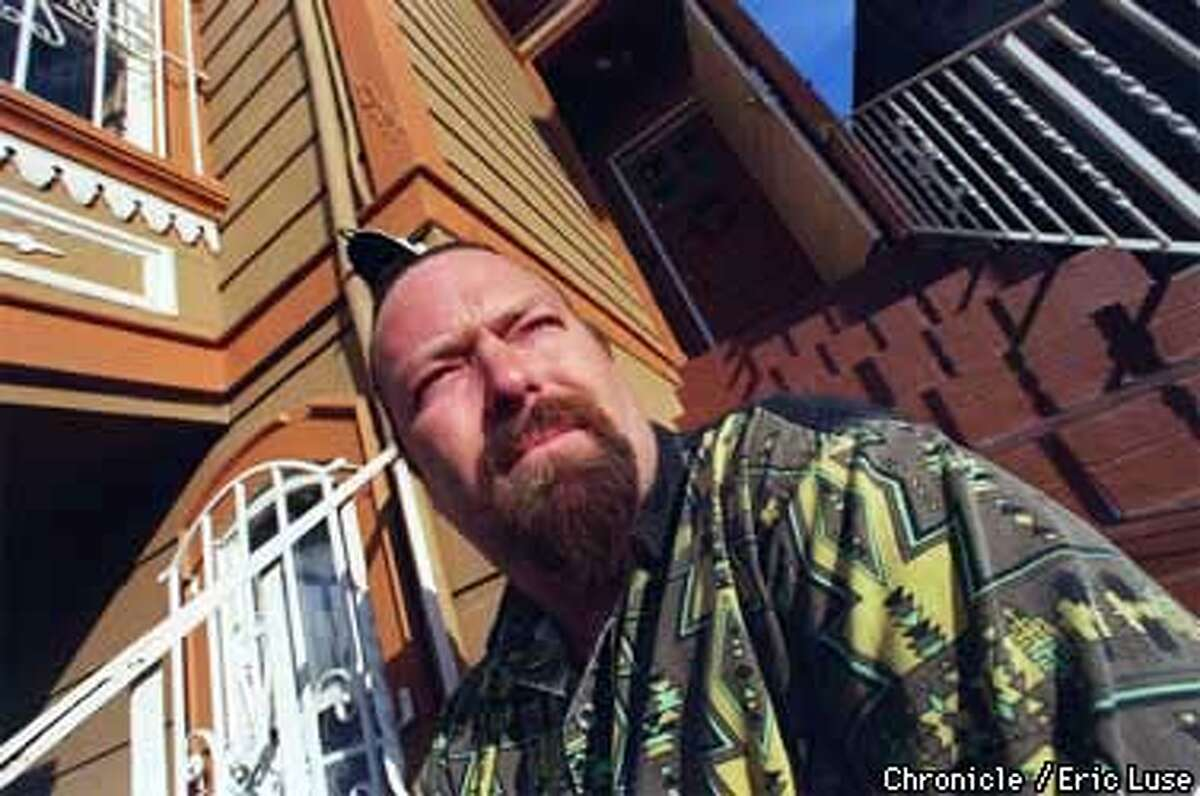Tom Kat Roar at his home in Oakland at 17th and Castro which is one of three homes possible haunted. Photo by Eric Luse