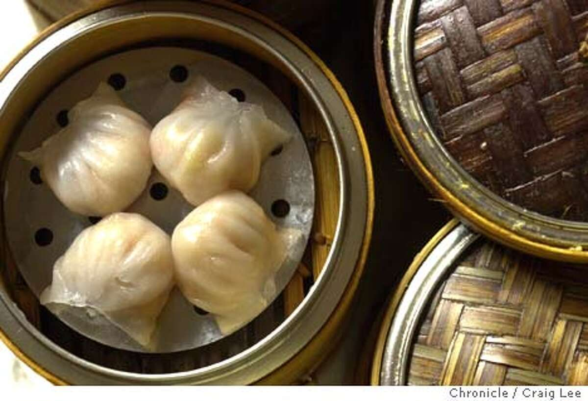 Ton Kiang restaurant at 5821 Geary Blvd. in San Francisco. Photo of Ha Gao, shrimp dumplings. Photo by Craig Lee/San Francisco Chronicle