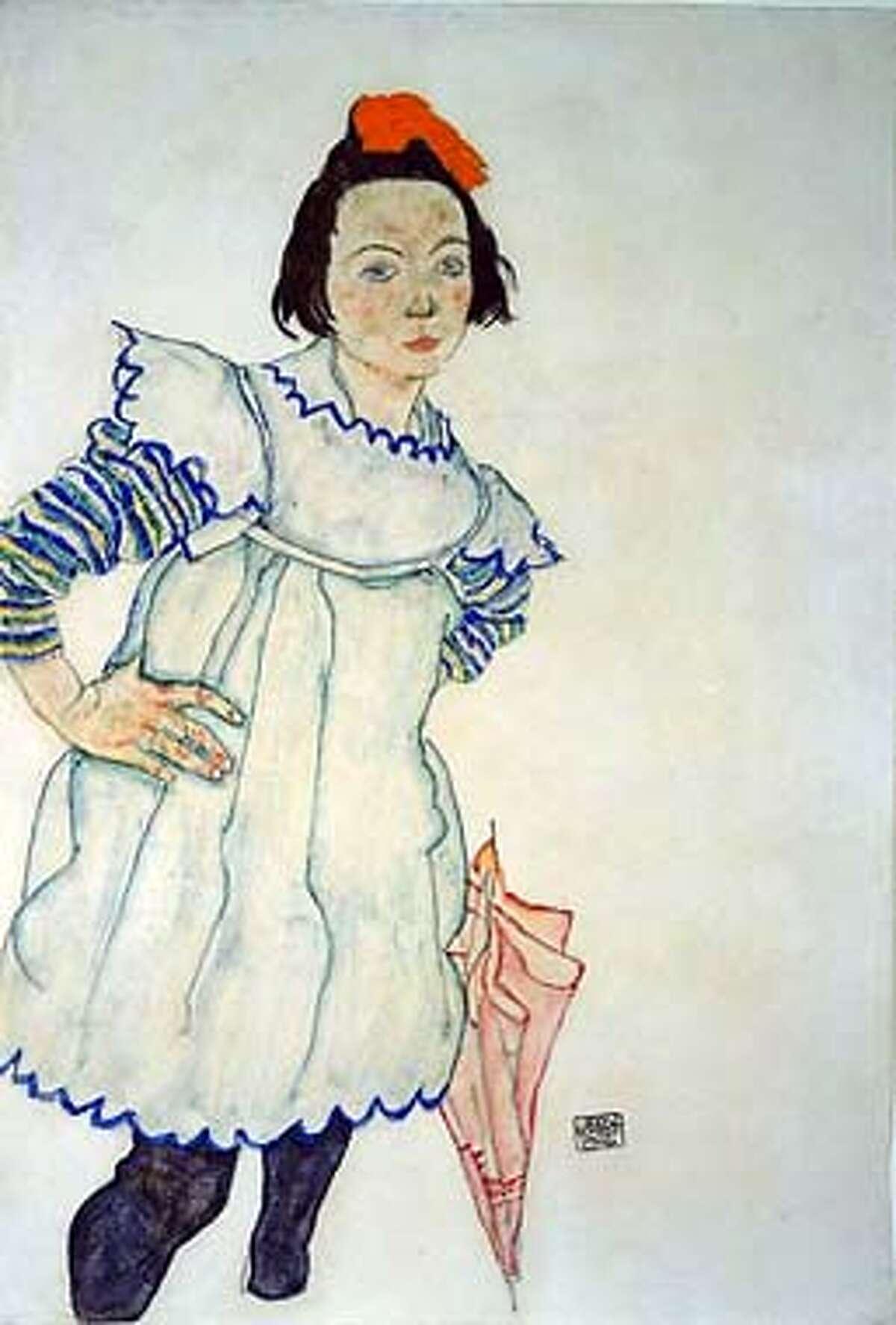 ARTNOTES30 Drawing by Egon Schiele, 1916.