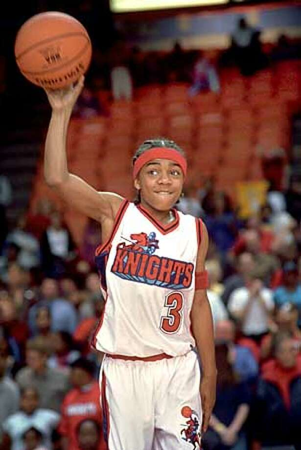 "In ""Like Mike,"" Lil' Bow Wow plays an orphan who, with the help of a magical pair of sneakers, becomes an NBA superstar. Twentieth Century Fox photo by Sidney Baldwin"