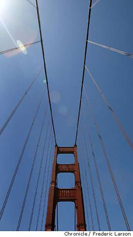 � The Bush administration raised the national terror alert level to orange on Tuesday amid fears that a wave of attacks overseas would spread to the United States. One the the landmarks of concern is the Golden Gate Bridge which is on high-en security due to the change. Officials with the Department of Homeland Security said the threats were not specific to location, time or method of attack. The warning sets in motion new security measures for the federal government and advises cities, states and businesses to take extra steps as well. FREDERIC LARSON / The Chronicle Photo: FREDERIC LARSON