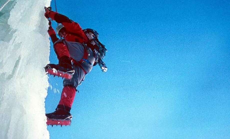 "Nicholas Aaron (as Simon Yates) crawling across the moraine in ""Touching the Void,"" directed by Kevin Macdonald. (AP Photo/FilmFour Ltd/IFC Films) Nicholas Aaron, as Simon Yates in &quo;Touching the Void,&quo; faces moral dilemmas deeper than any crevasse."