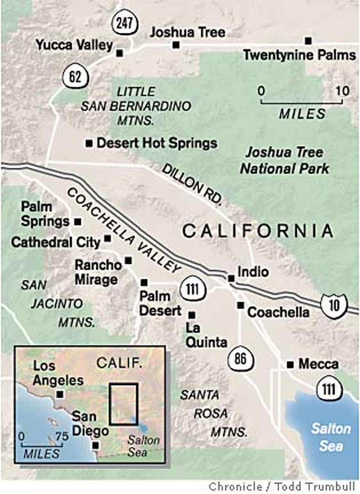 Coachella Valley. Chronicle graphic by Todd Trumbull