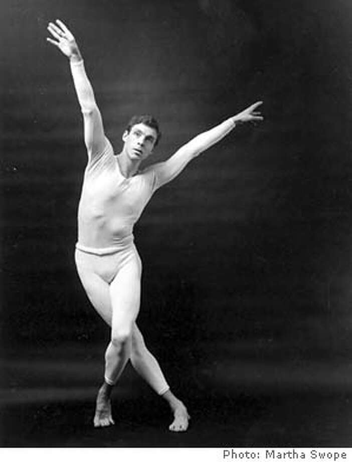 "Paul Taylor, of the Paul Taylor Dance Company dances in ""Epidodes"" in 1960.  photo by Martha Swope  The Paul Taylor Dance whose company is in town March 24-April 4th."