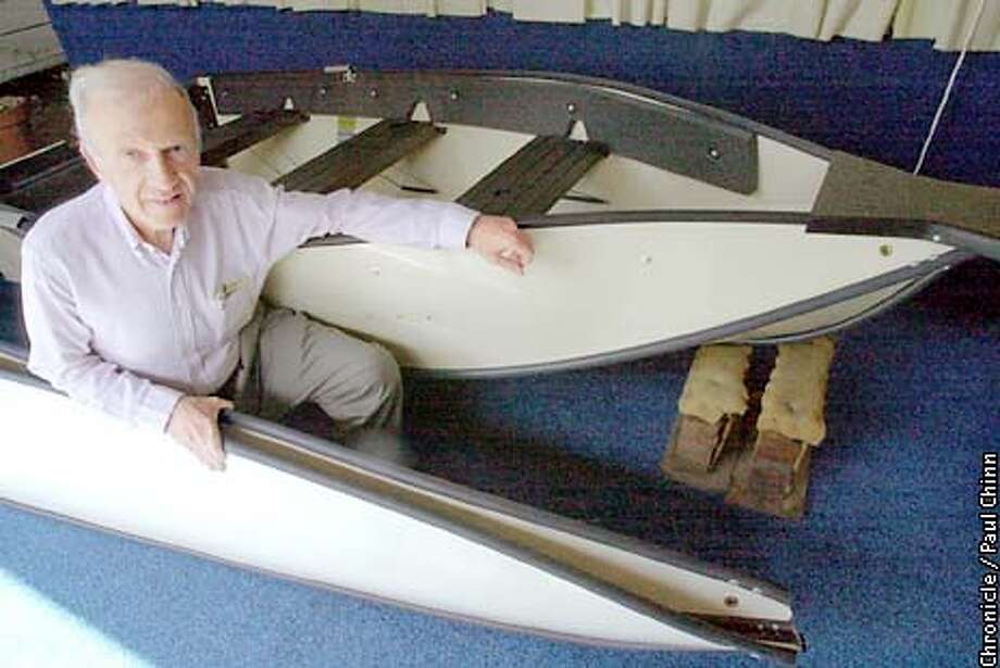 Sandy Kaye is president of Porta-Bote which manufactures portable, foldable boats. Kaye believes the decline of the dollar will boost the foreign sales of his product by at least 15 percent.  PAUL CHINN/S.F. CHRONICLE Photo: PAUL CHINN