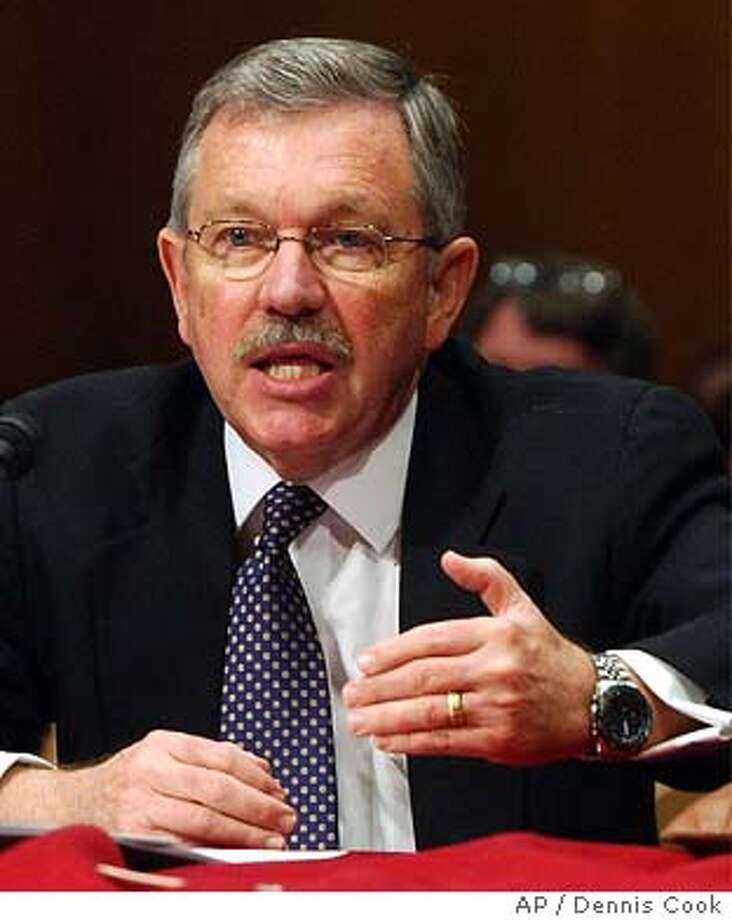 Former U. S. weapons inspector David Kay testifies before the Senate Armed Services Committee on Capitol Hill Wednesday, Jan. 28, 2004. (AP Photo/Dennis Cook) Photo: DENNIS COOK