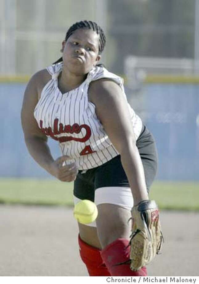 Skyline pitcher Karlana Ingram.  Feature story on the Skyline High School Girl's Softball team who played at Newark Memorial High School.  Photo by Michael Maloney / The Chronicle Photo: Michael Maloney