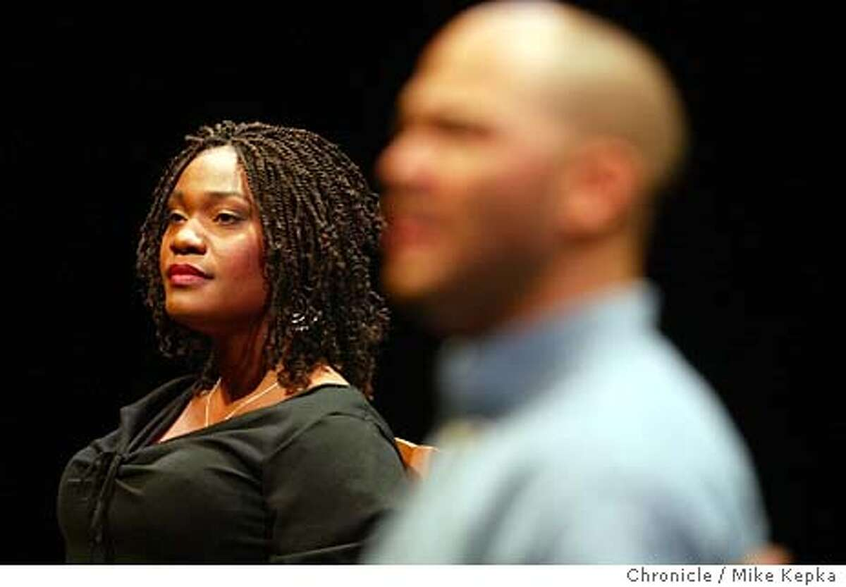 Deidrie Henry and Clark Jackson perform during a dress rehersal of Yelloman at the Berkeley Repertory Theatre. MIKE KEPKA/The Chronicle