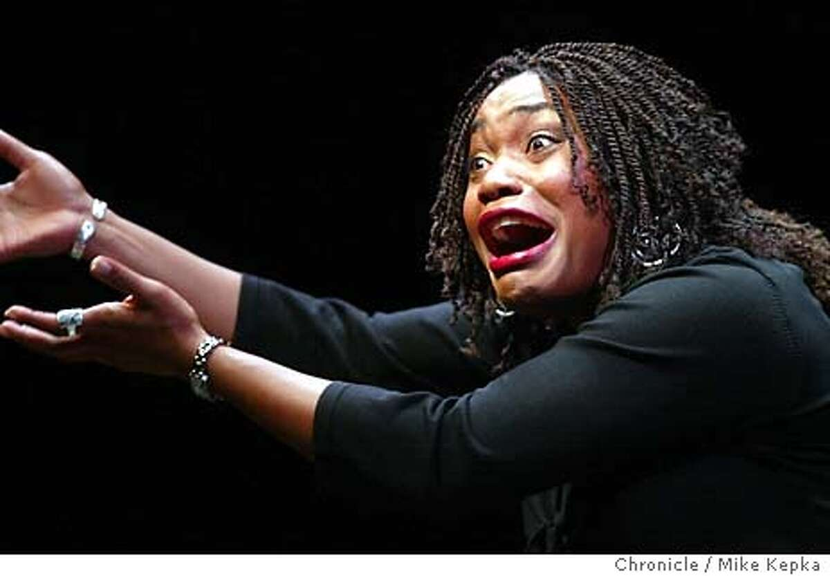 yellow300034_mk.JPG Deidrie Henry perform during a dress rehersal of Yelloman at the Berkeley Repertory Theatre. MIKE KEPKA/The Chronicle