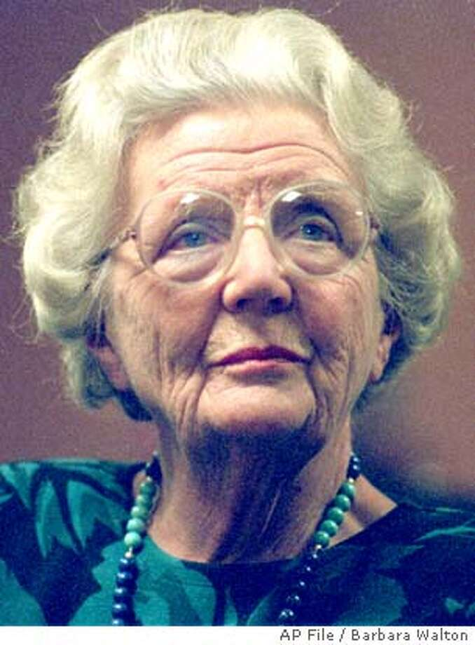 ** FILE ** Dutch Queen Juliana is seen in this December 1988 file photo in The Hague. Juliana, the popular queen mother of the Netherlands, who presided over the dismantling of the centuries-old Dutch empire and witnessed the birth of a social revolution during her 31-year reign, died as a result of pneumonia early Saturday March 20, 2004, at the age of 94. (AP Photo/Barbara Walton) DEC. 1988 FILE PHOTO Photo: BARBARA WALTON