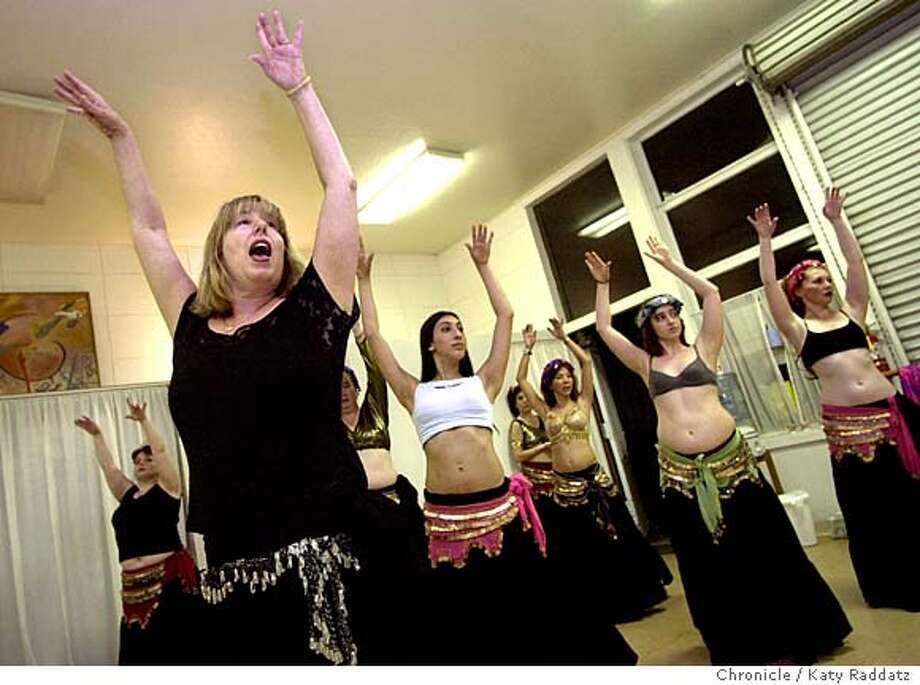 SHOWN: Sherry Brier (L) helps her advanced class refine their hand movement technique. Sherry Brier teaches belly dancing in Mill Valley at the inner Rhythm Arts Institute. Katy Raddatz / The Chronicle Photo: Katy Raddatz