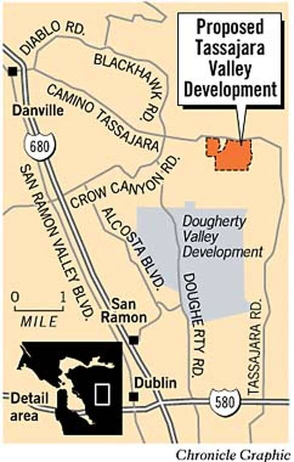Proposed Tassajara Valley Development. Chronicle Graphic