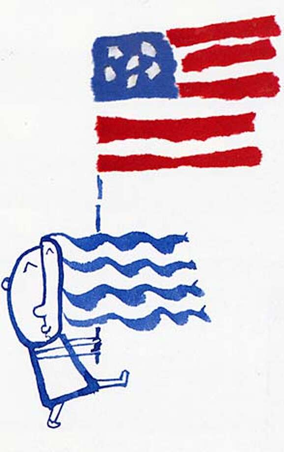 "From ""I Pledge Allegiance"" by Bill Martin Jr. and Michael Sampson. Illustrated by Chris Raschka"