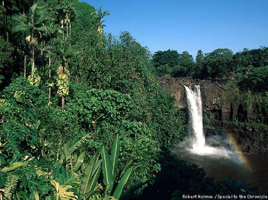 Rainbow Falls, near Hilo, is one of the more spectacular natural sites on the Big Island's northeast coast. Chronicle photo by Robert Holmes, special to the Chronicle