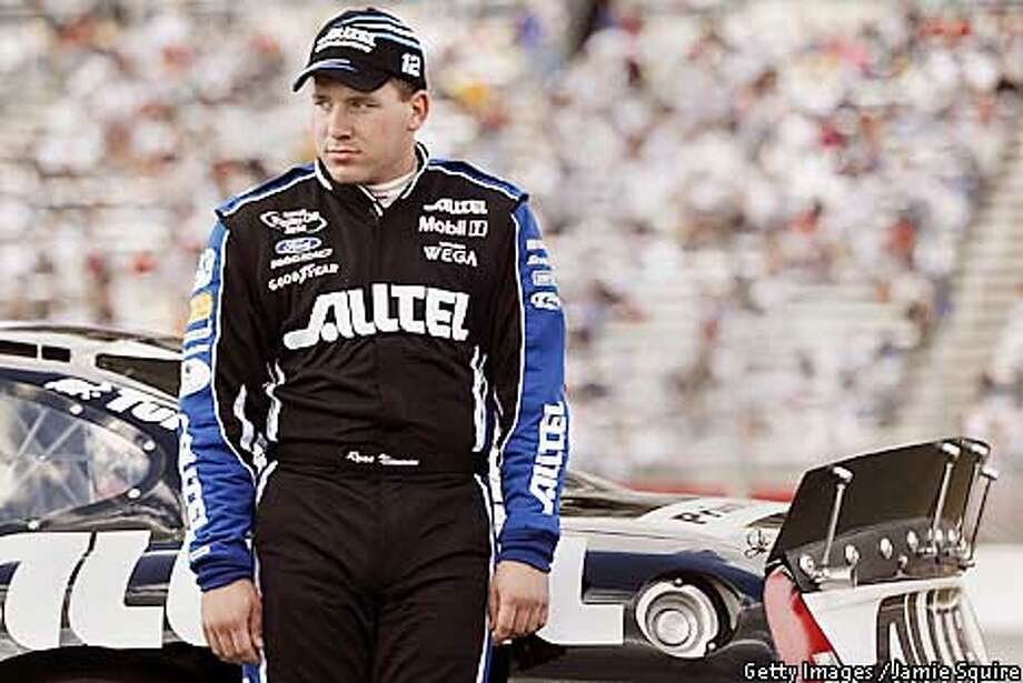 8 Mar 2002: Ryan Newman, driver of the #12 Alltel Ford Taurus, reacts after Bill Elliot takes the pole from Newman for Sunday's Nascar Winston Cup MBNA 500 at Atlanta Motor Speedway in Hampton, Georgia. Digital Image. Photo: JAMIE SQUIRE
