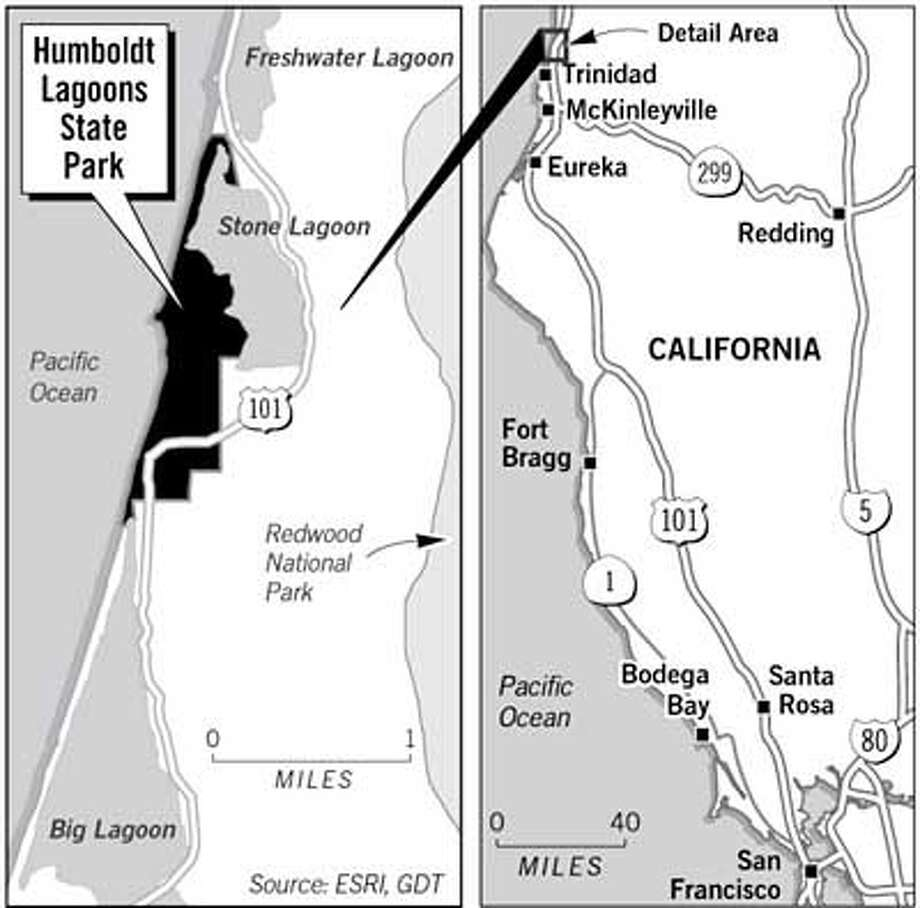 Humboldt Lagoons State Park. Chronicle Graphic
